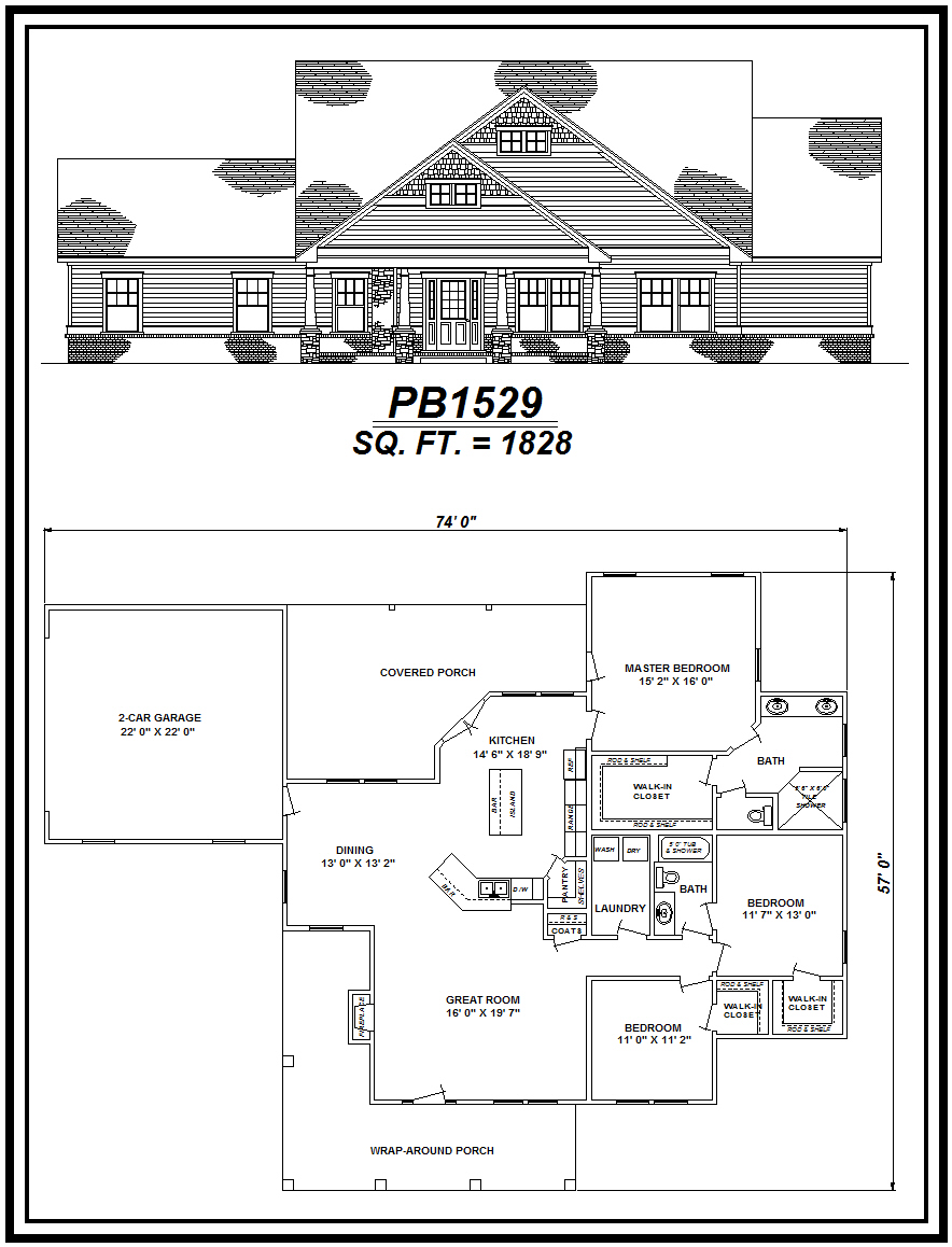 picture of house plan #PB1529