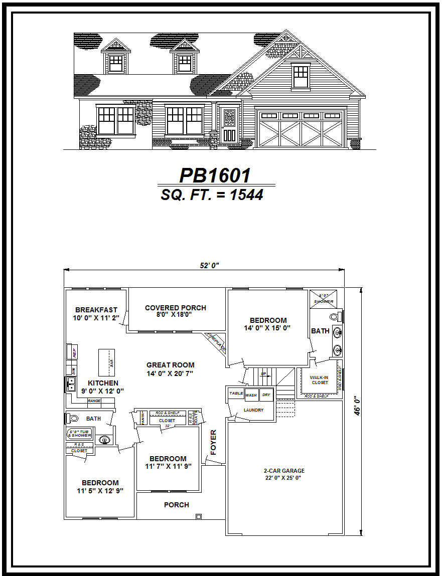 picture of house plan #PB1601