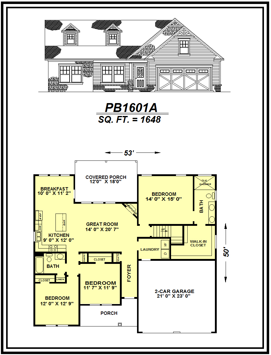 picture of house plan #PB1601A