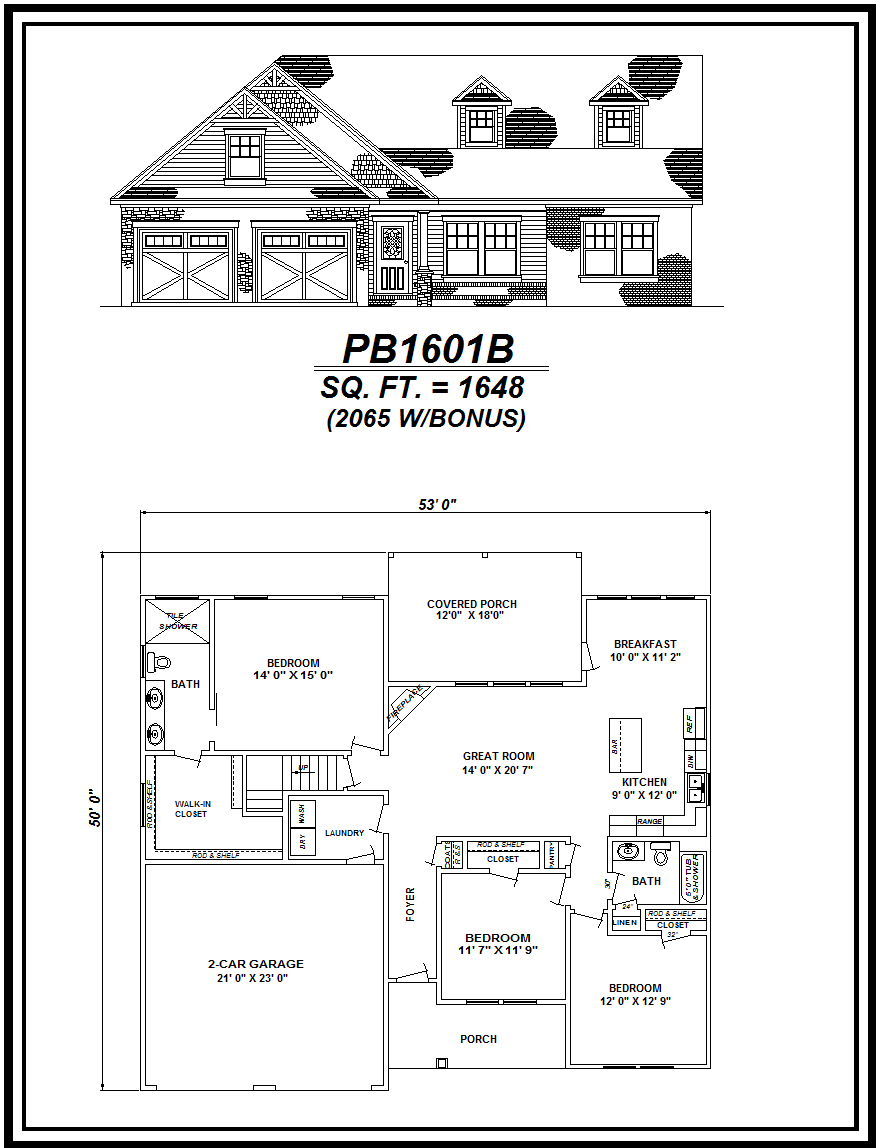 picture of house plan #PB1601B