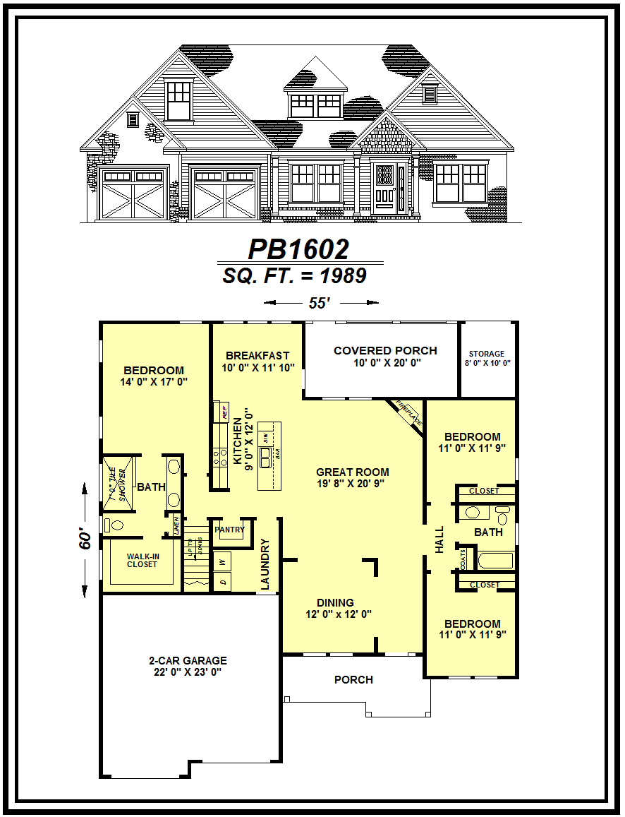picture of house plan #PB1602