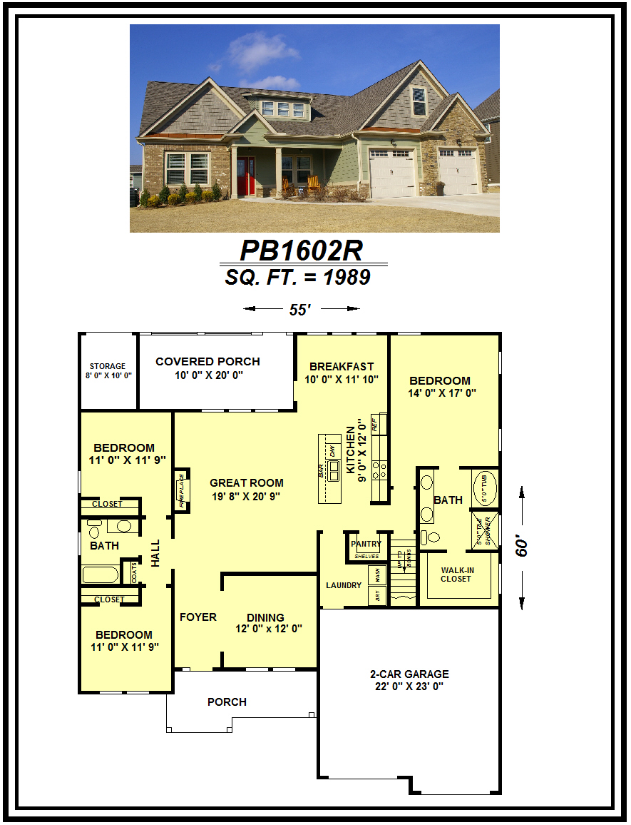 picture of house plan #PB1602R