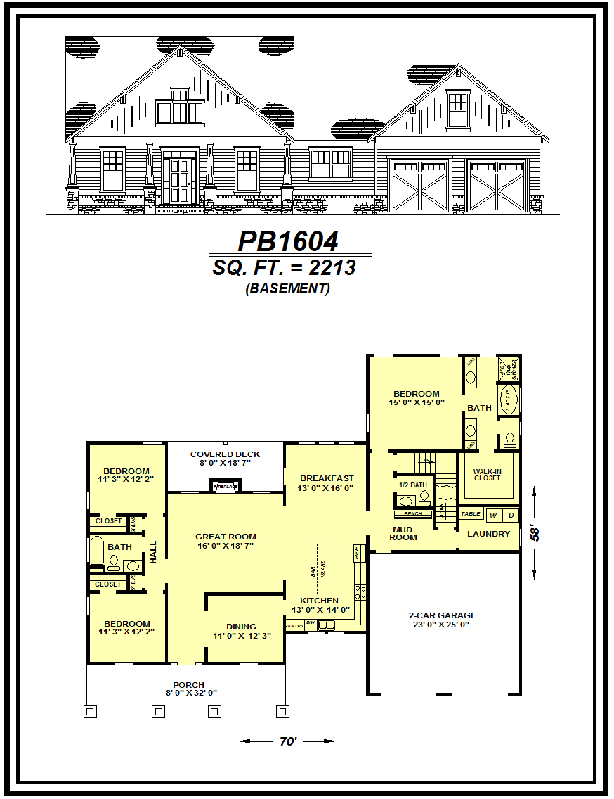 picture of house plan #PB1604