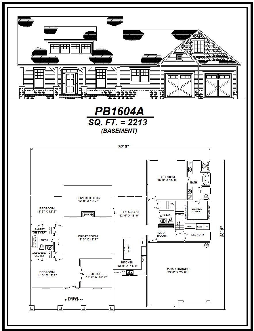 picture of house plan #PB1604A
