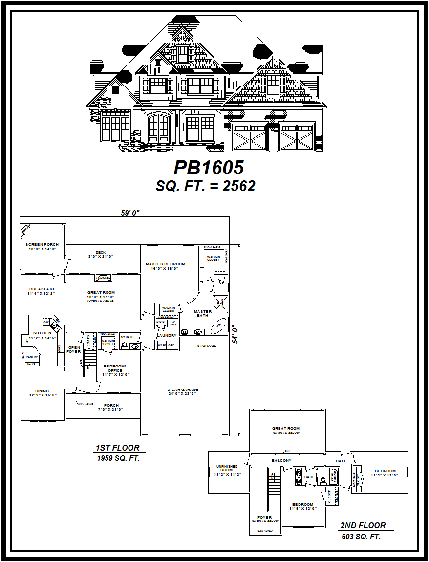 picture of house plan #PB1605