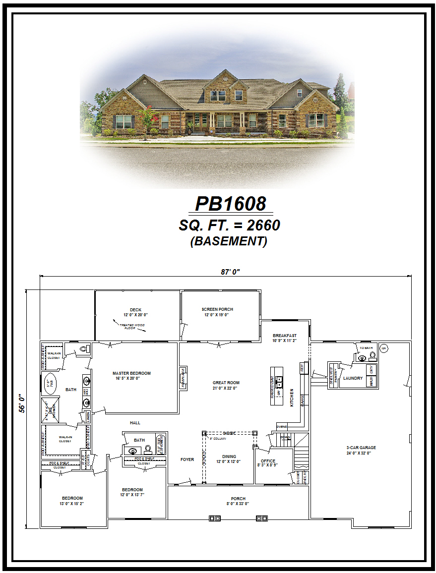 picture of house plan #PB1608