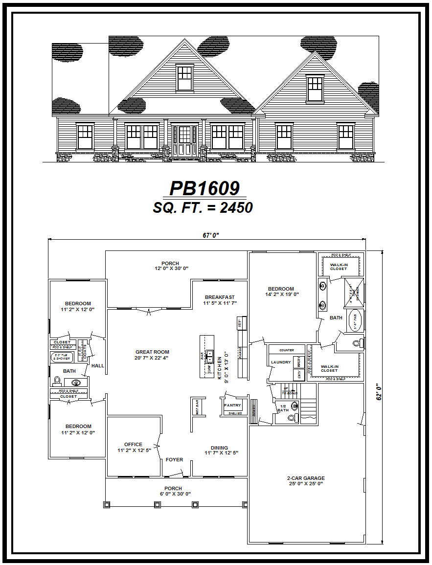 picture of house plan #PB1609