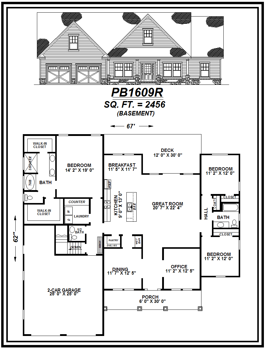 picture of house plan #PB1609R