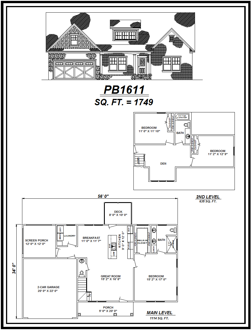 picture of house plan #PB1611