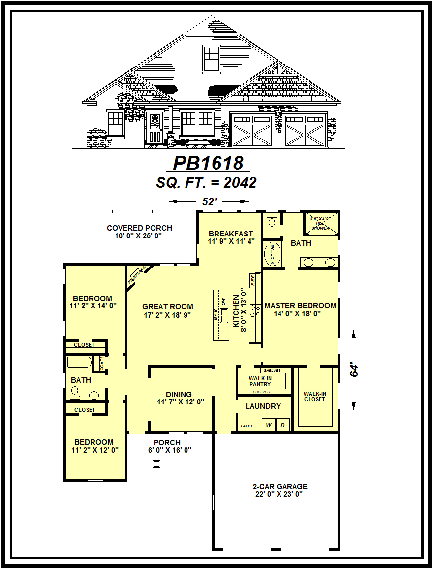picture of house plan #PB1618