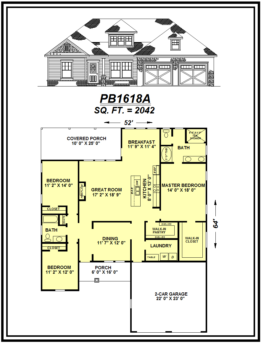 picture of house plan #PB1618A