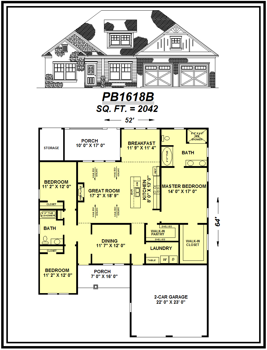 picture of house plan #PB1618B