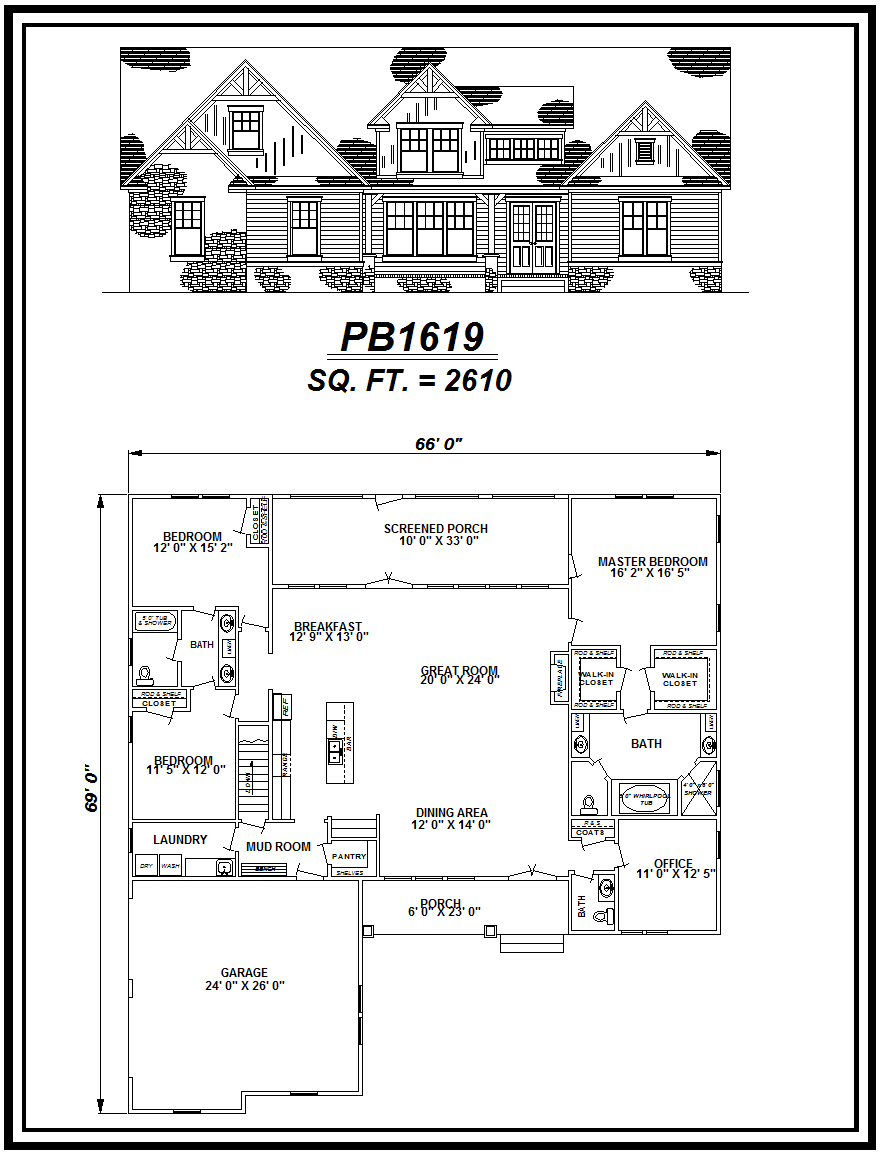 picture of house plan #PB1619