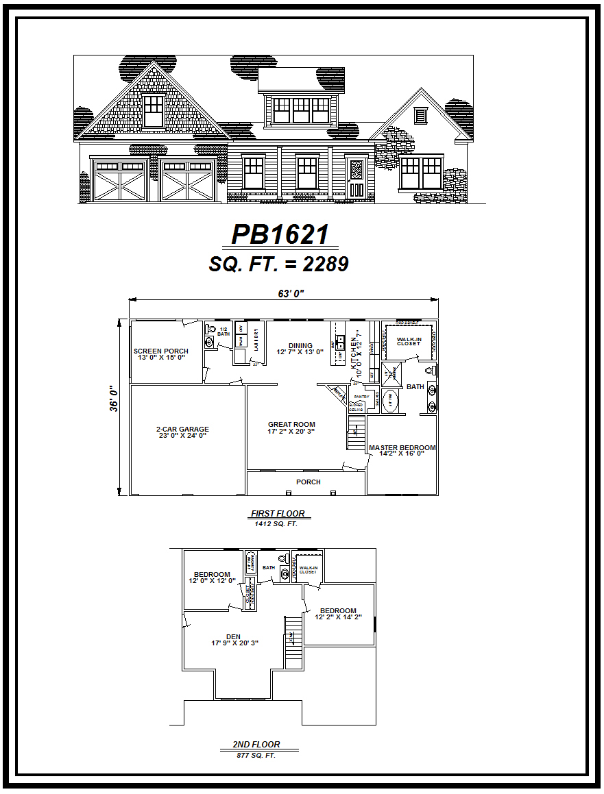 picture of house plan #PB1621