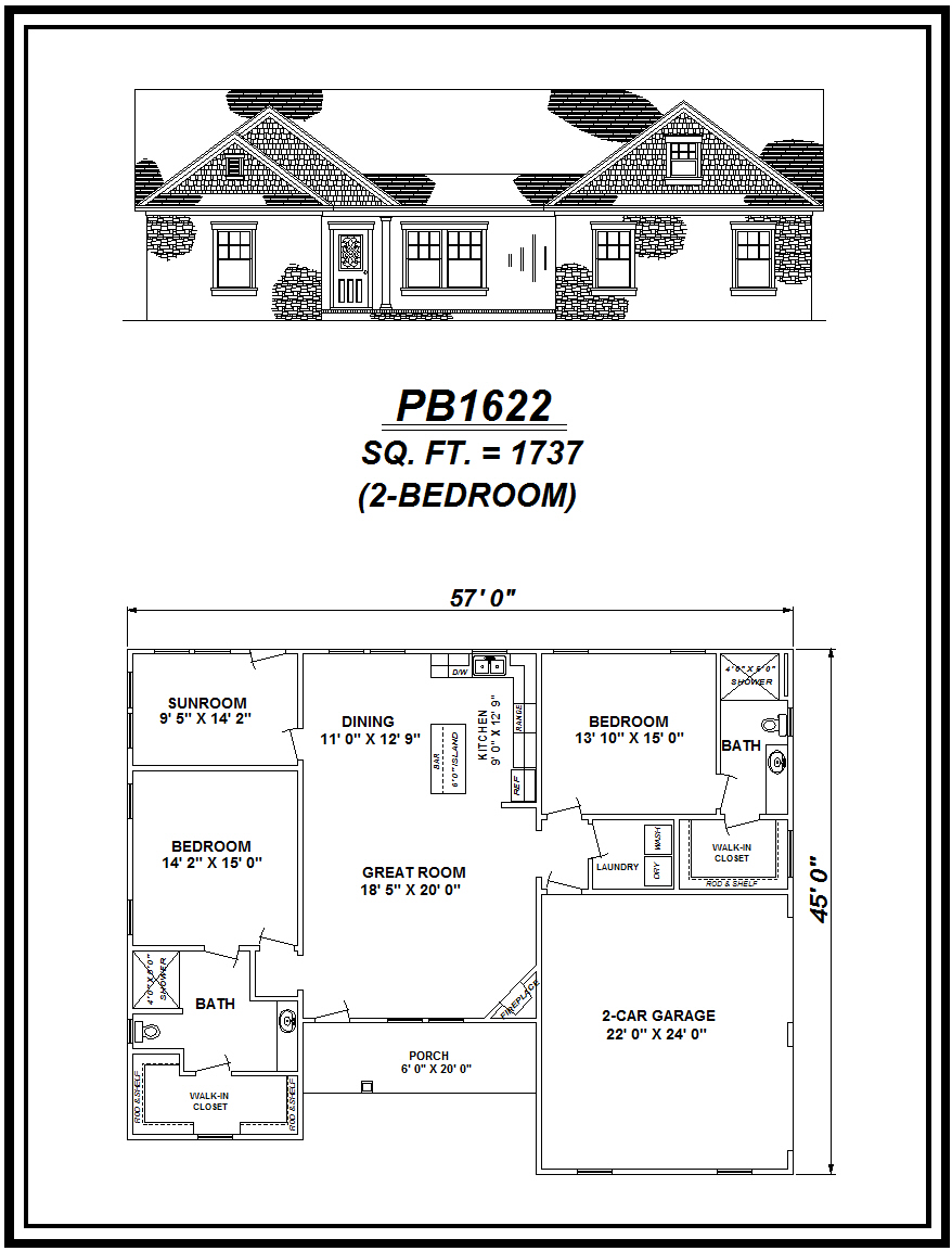 picture of house plan #PB1622