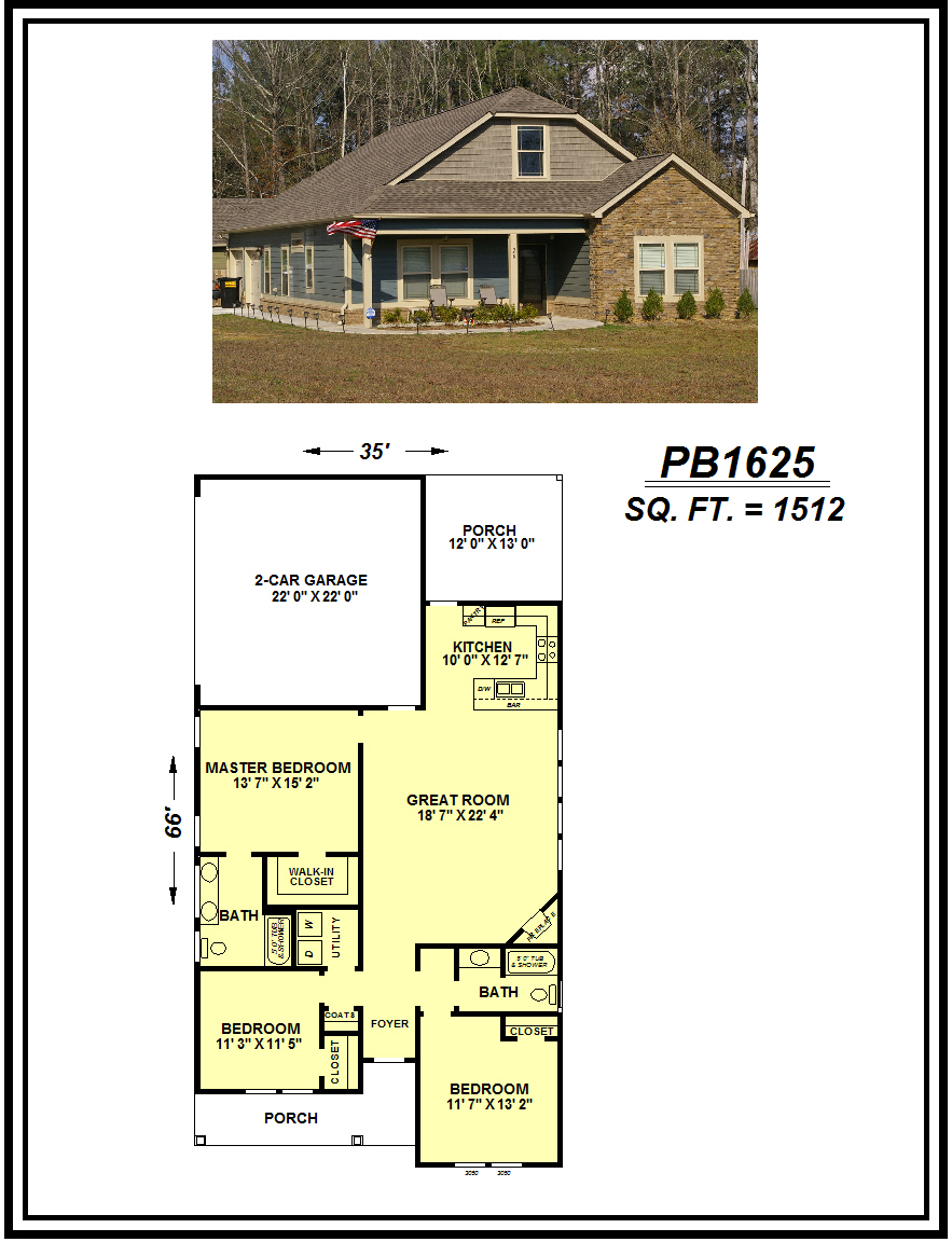 picture of house plan #PB1625