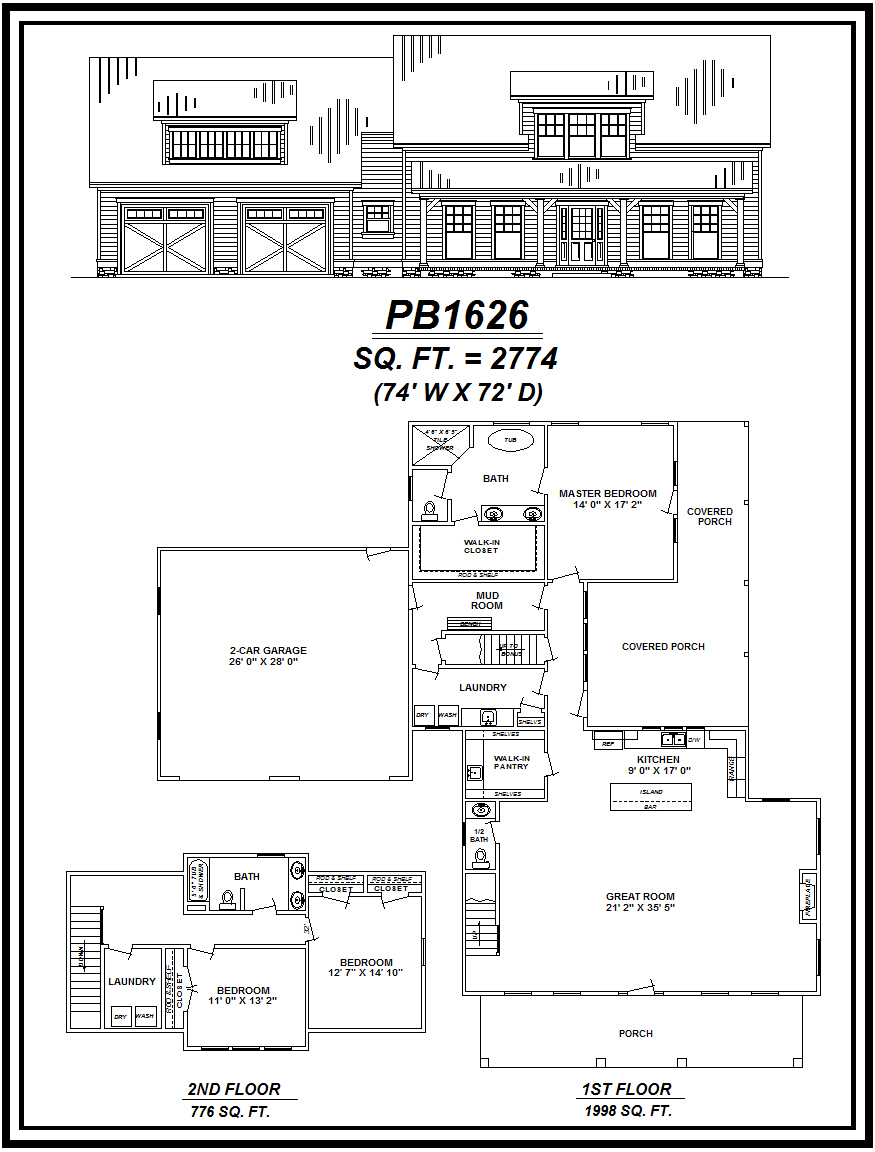 picture of house plan #PB1626