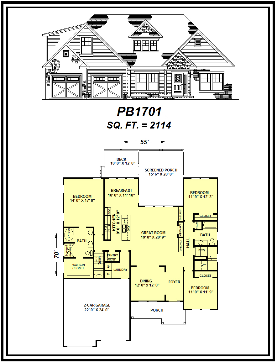 picture of house plan #PB1701