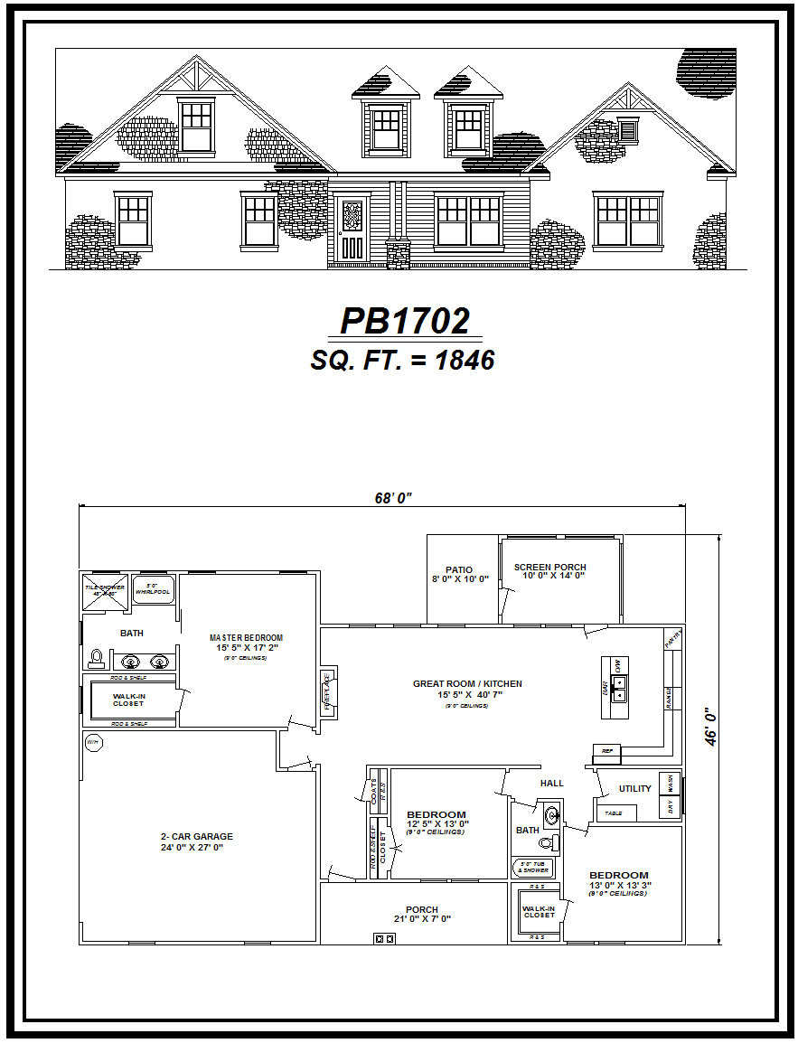picture of house plan #PB1702