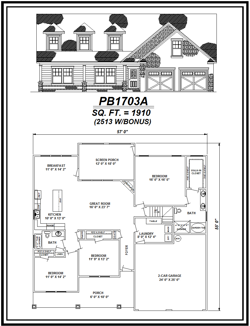 picture of house plan #PB1703A