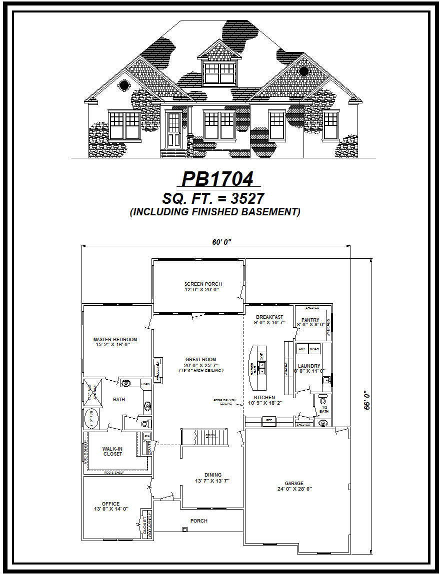 picture of house plan #PB1704