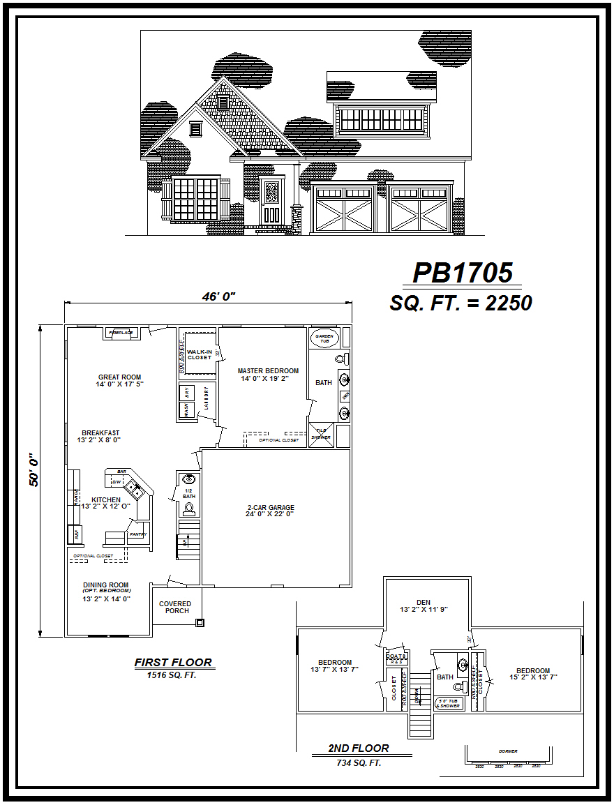picture of house plan #PB1705