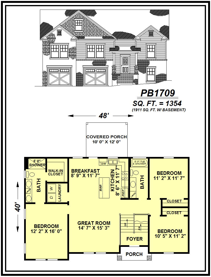 picture of house plan #PB1709