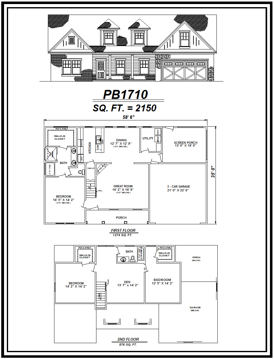 picture of house plan #PB1710