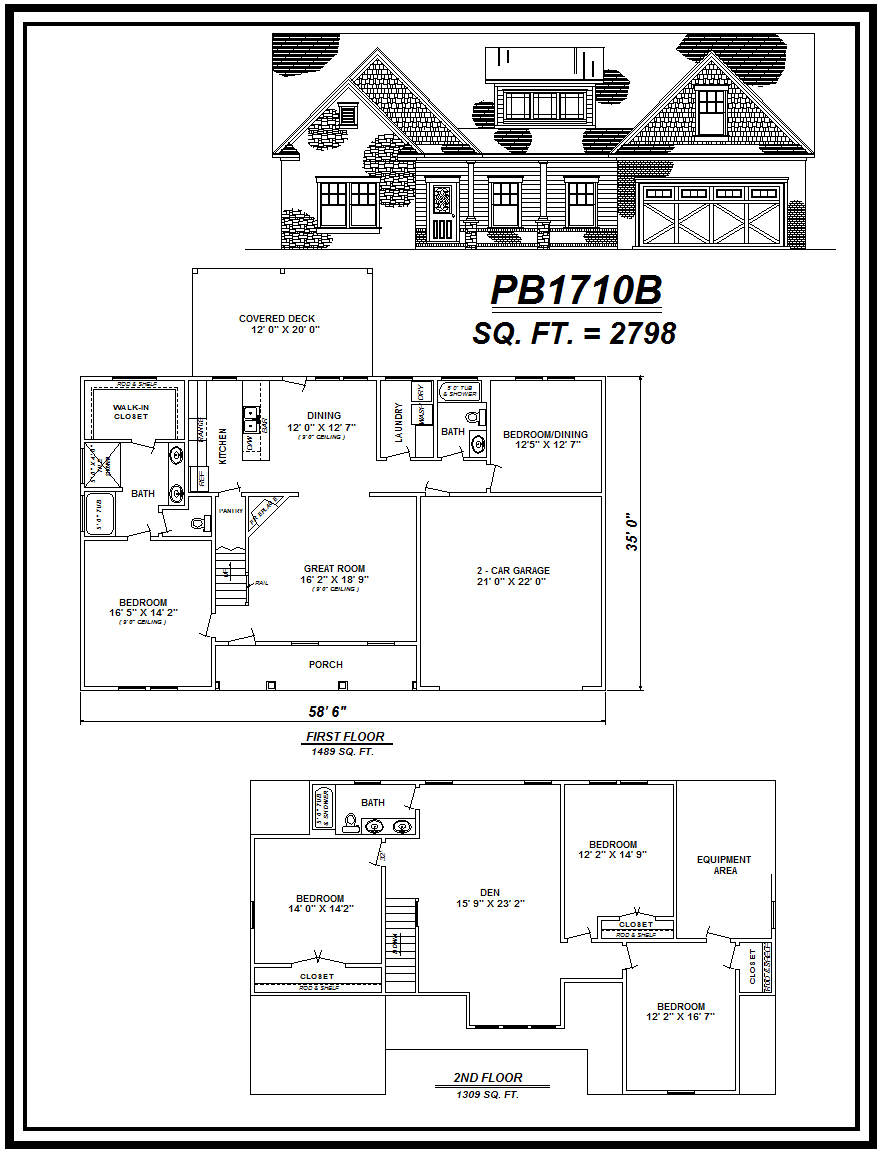 picture of house plan #PB1710B