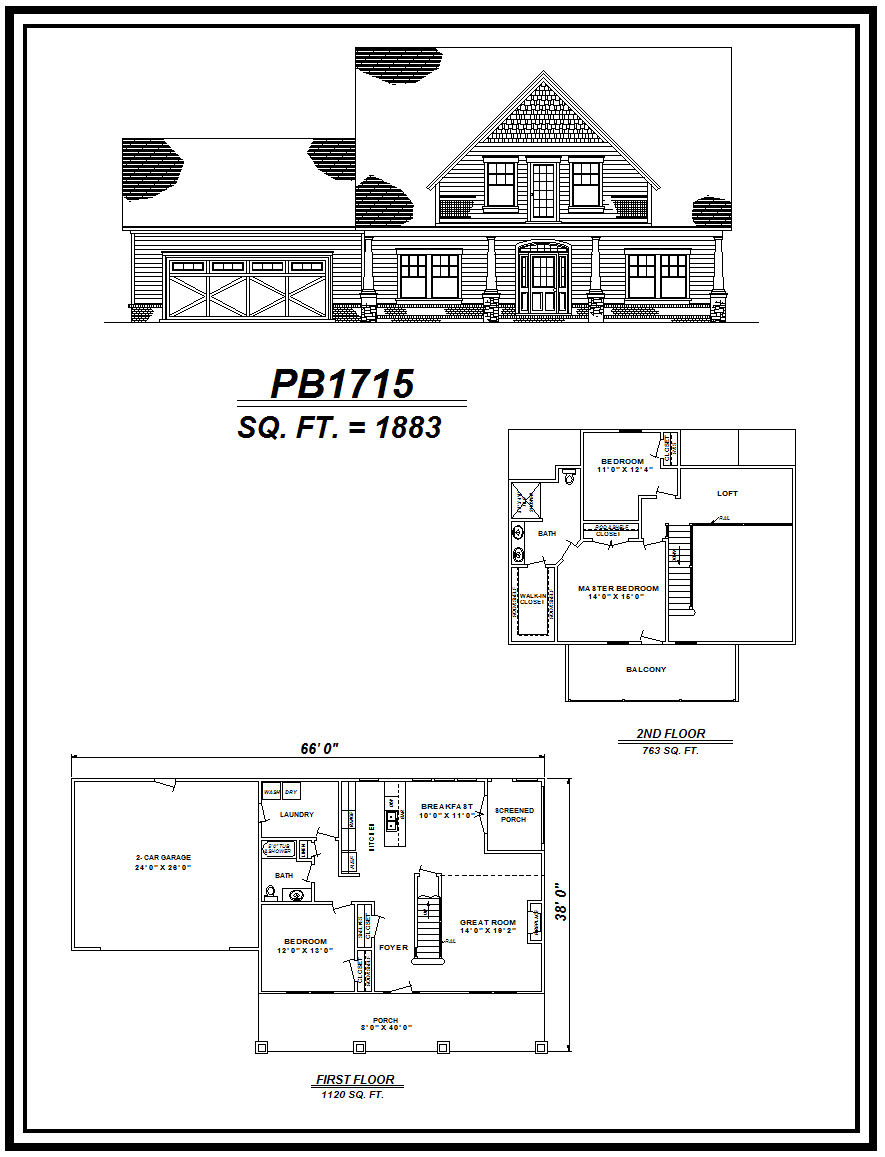 picture of house plan #PB1715