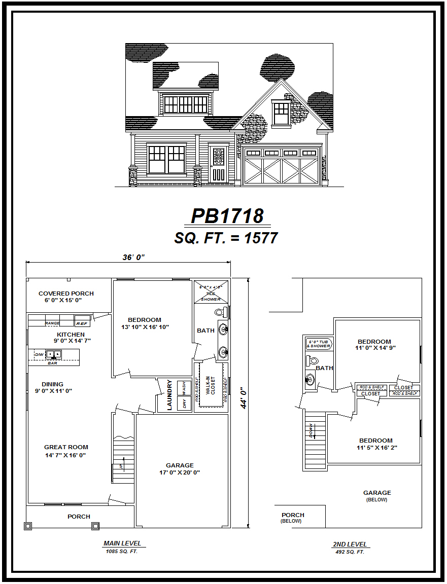 picture of house plan #PB1718