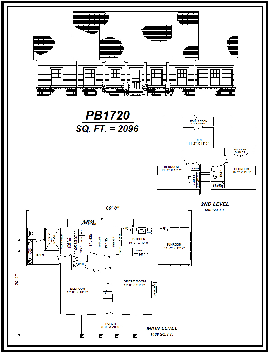 picture of house plan #PB1720