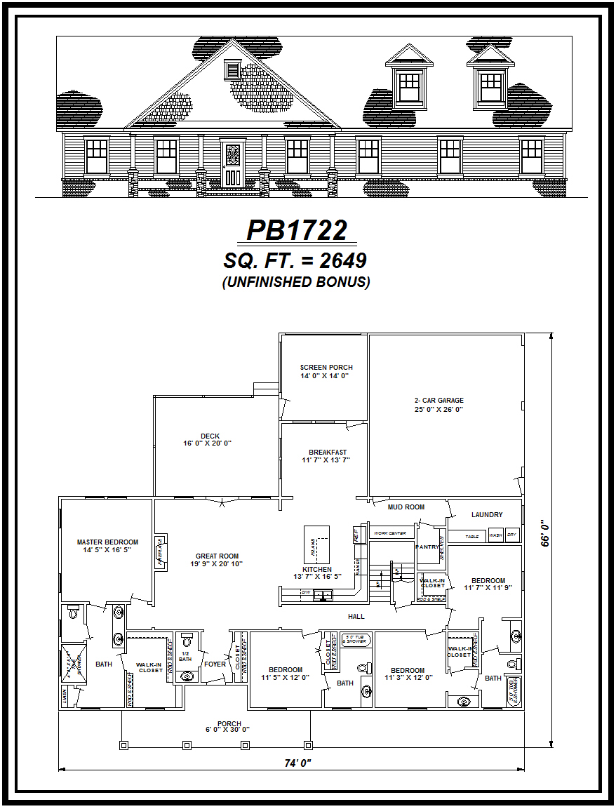picture of house plan #PB1722