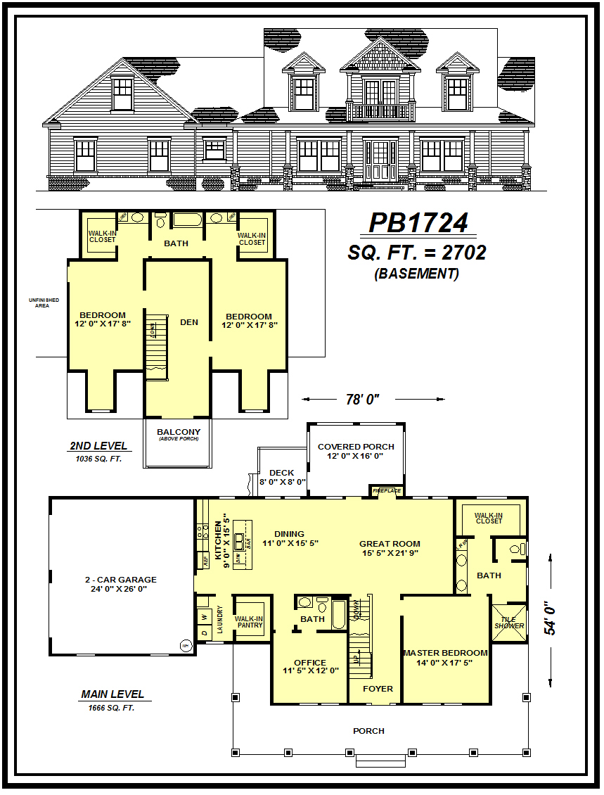 picture of house plan #PB1724