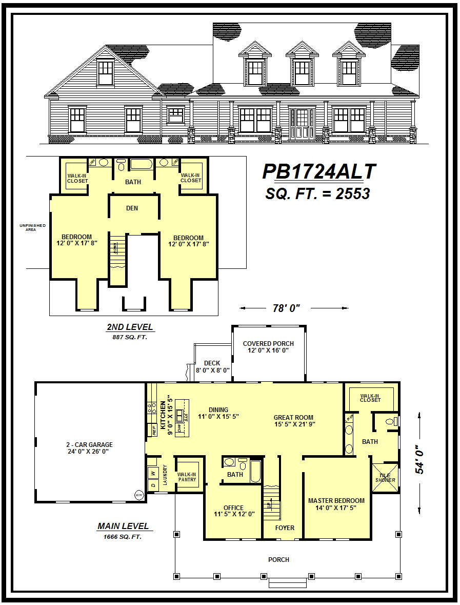 picture of house plan #PB1724ALT