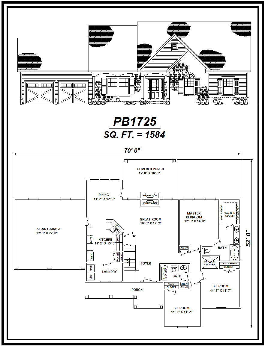 picture of house plan #PB1725