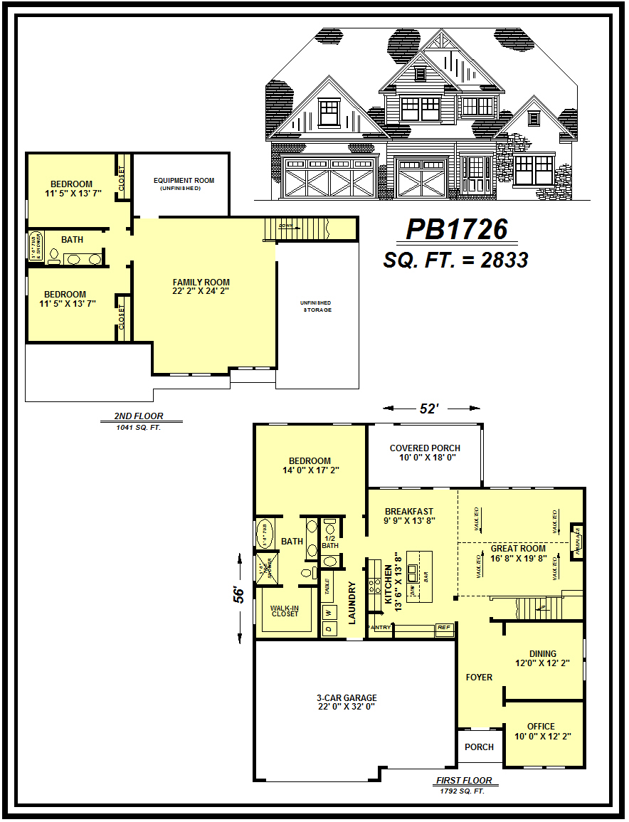 picture of house plan #PB1726