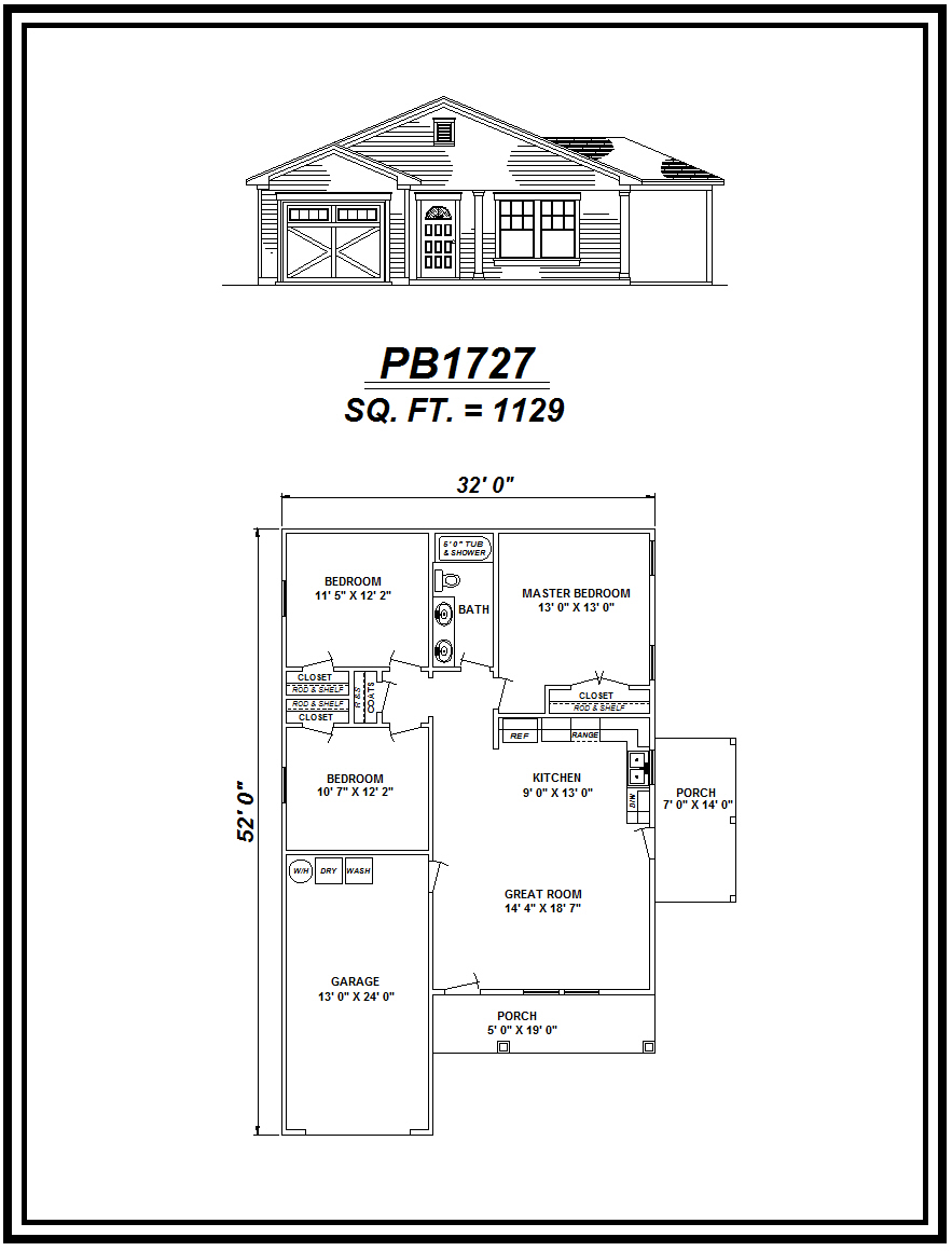 picture of house plan #PB1727