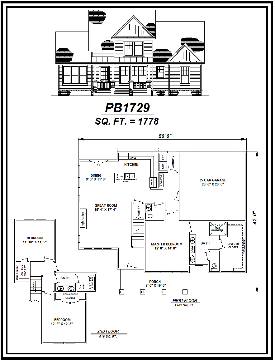 picture of house plan #PB1729