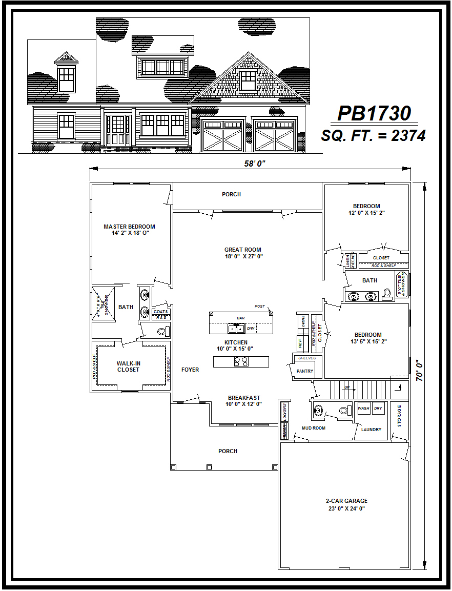 picture of house plan #PB1730