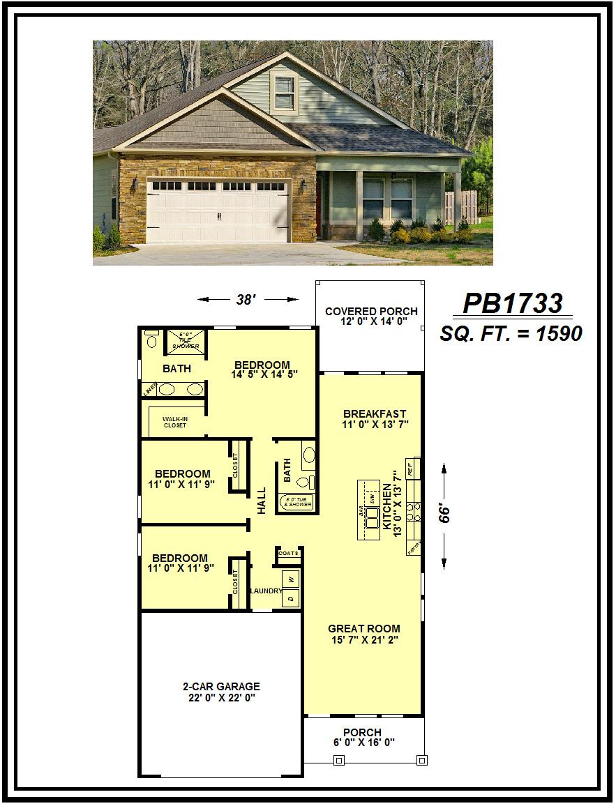 picture of house plan #PB1733
