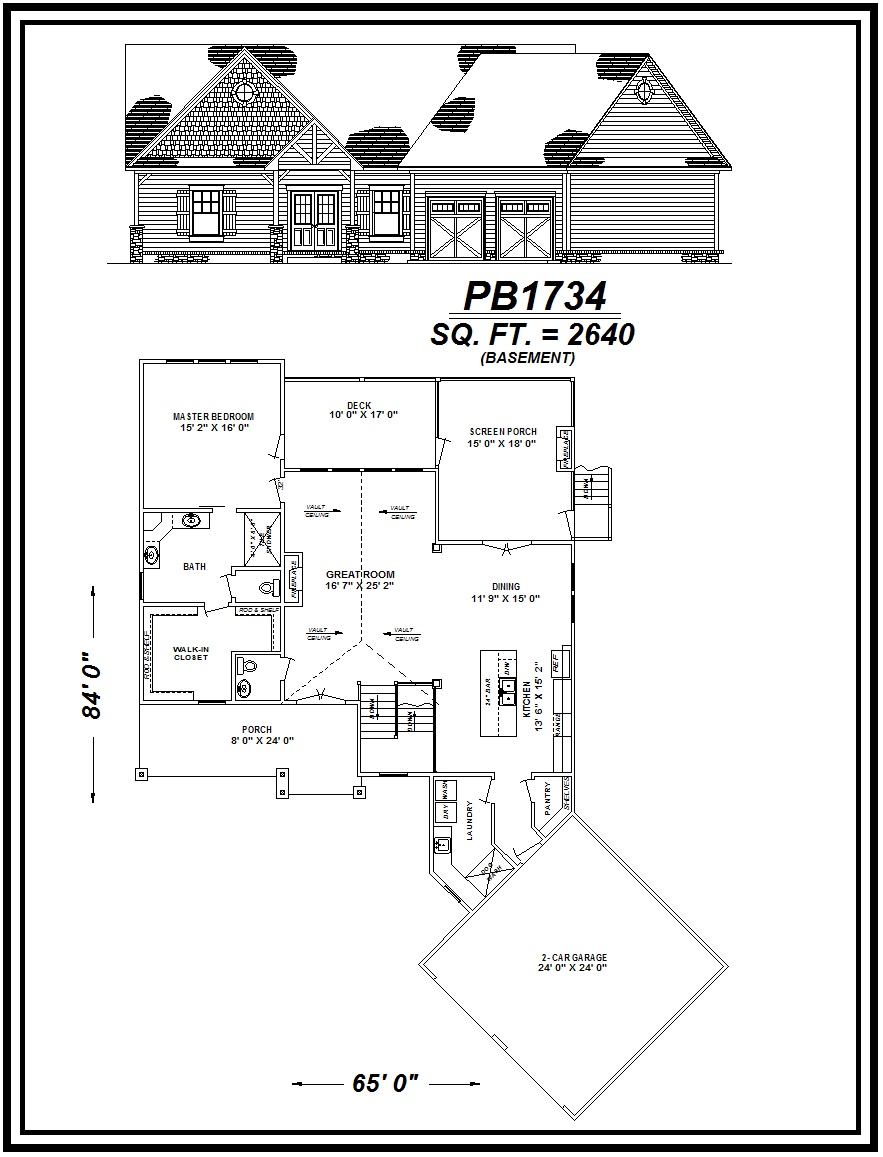picture of house plan #PB1734