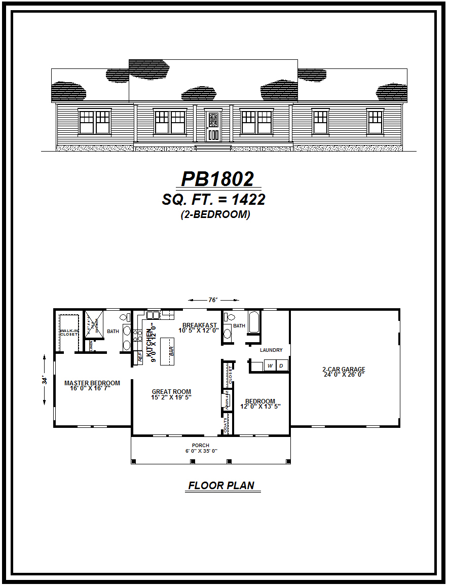 picture of house plan #PB1802