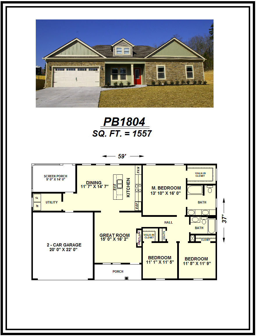 picture of house plan #PB1804