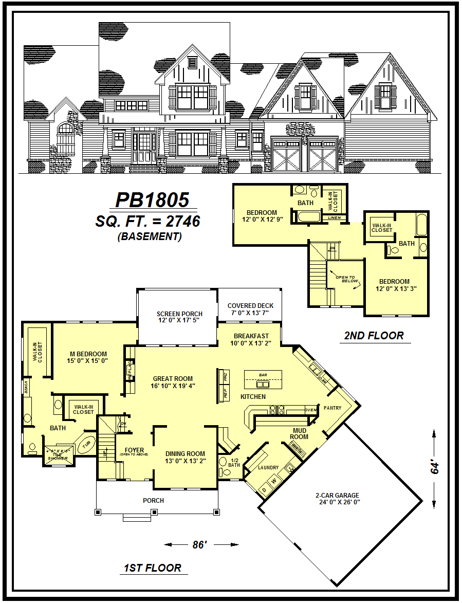 picture of house plan #PB1805