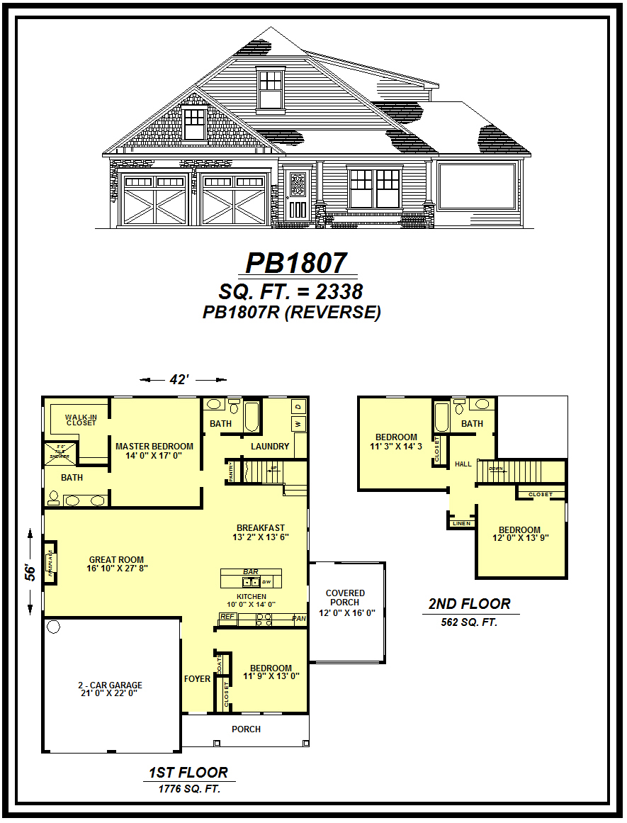 picture of house plan #PB1807