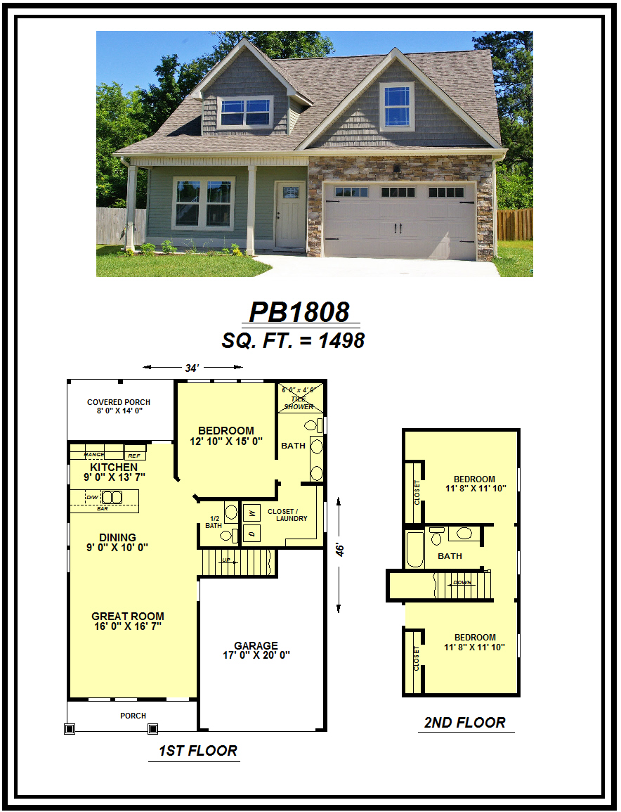 picture of house plan #PB1808