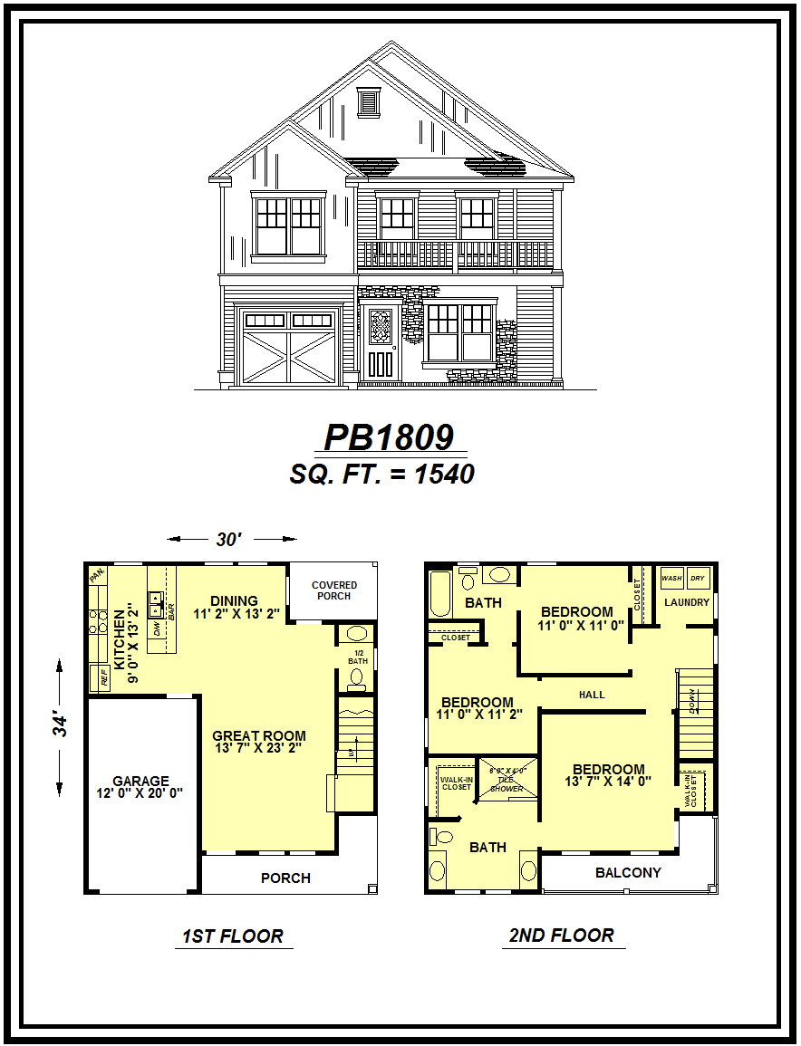 picture of house plan #PB1809