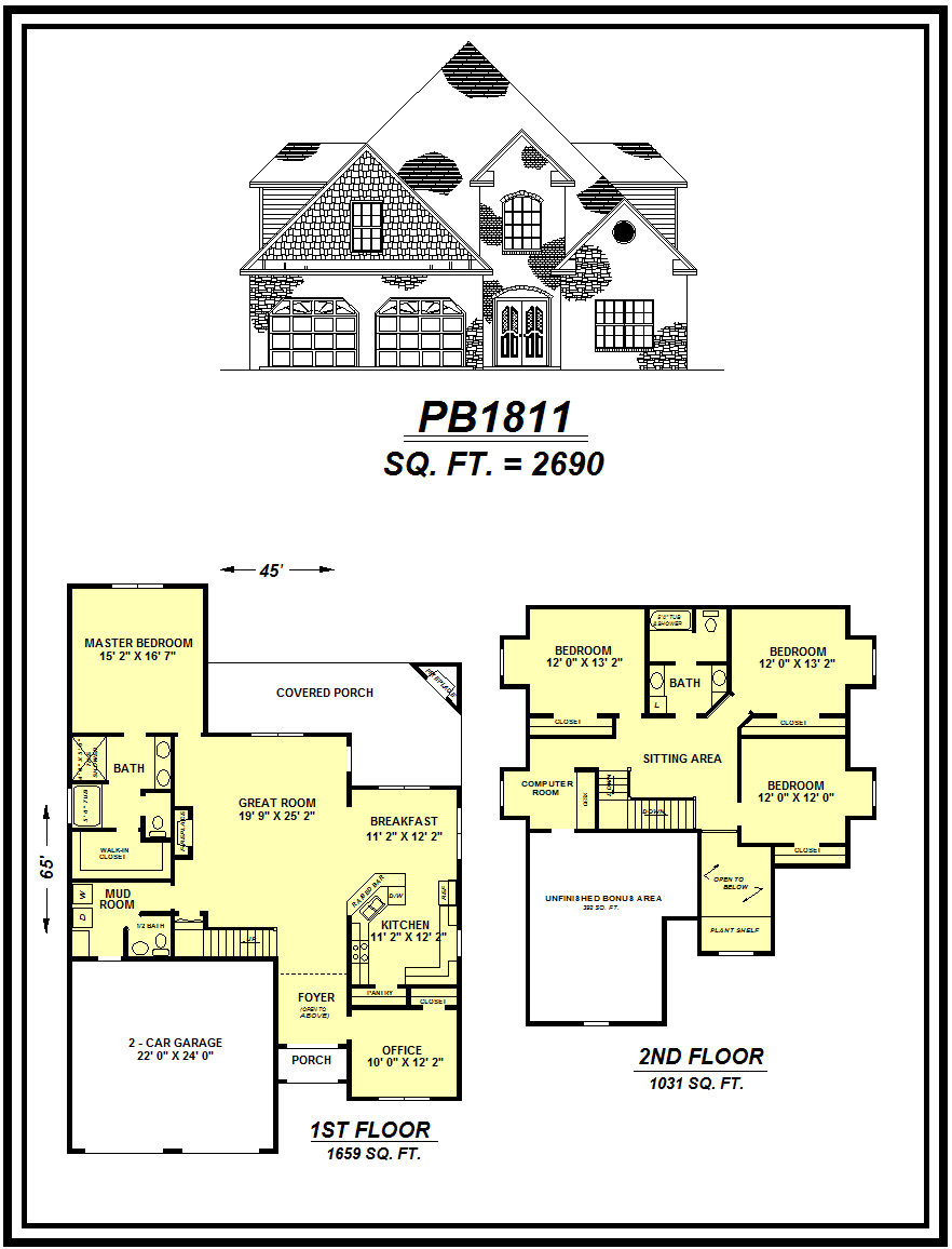 picture of house plan #PB1811