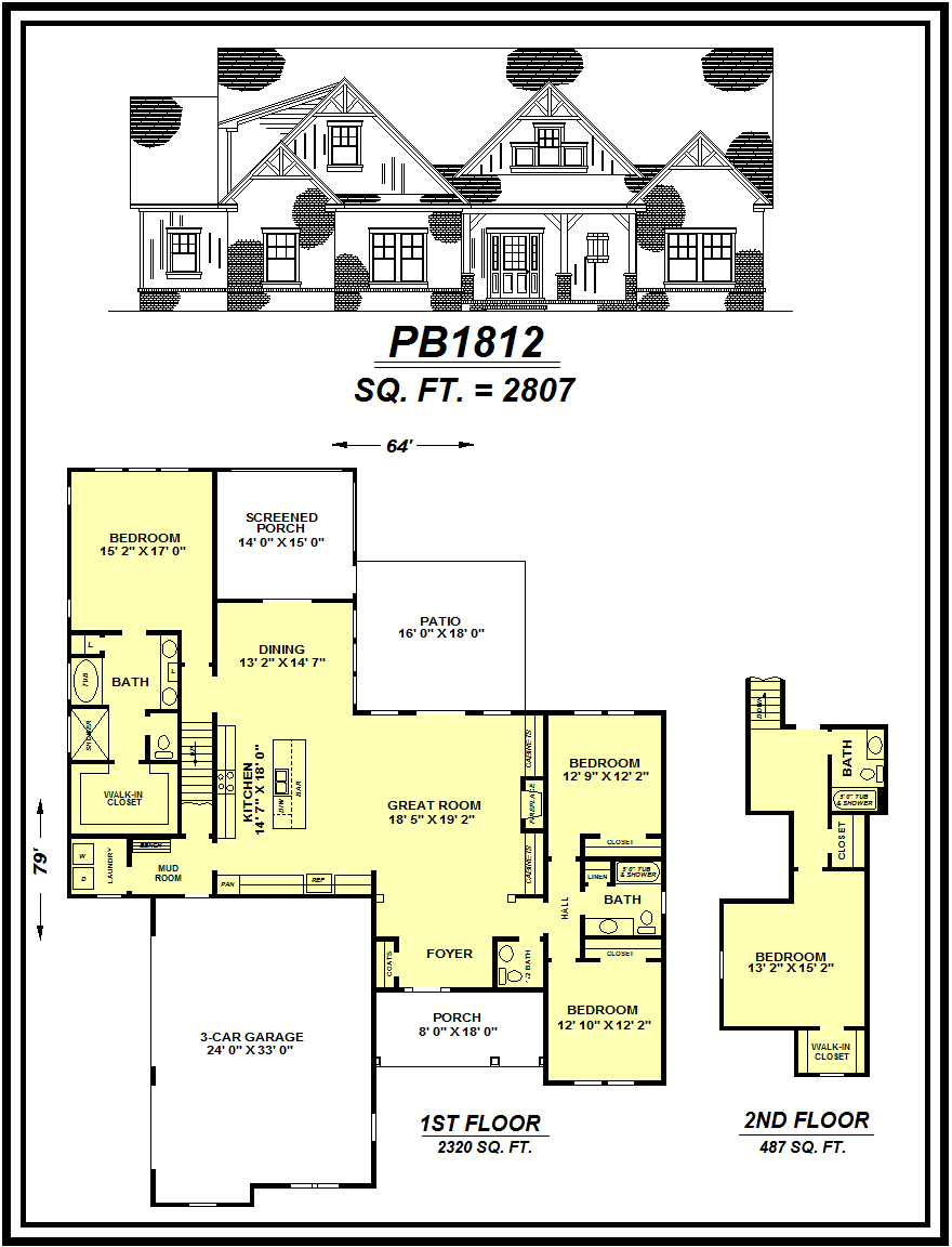 picture of house plan #PB1812